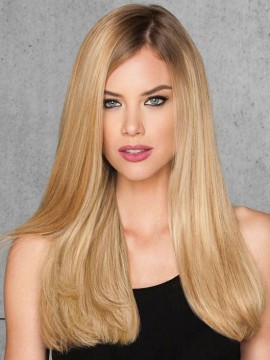 "20"" 10pc Straight Human Hair Extensions by Hairdo"