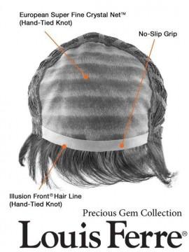 Diamond Wig Human Hair Hand Tied Mono Top by Louis Ferre