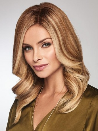 Gilded 12 Topper Mono Top Human Hair by Raquel Welch