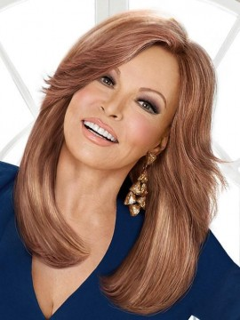 High Fashion Wig Remy Human Hair Lace Front French Mono Top Hand Tied by Raquel Welch