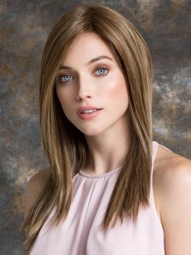 Illusion Wig Ear to Ear Lace Front Mono Top Human Hair/Heat Friendly Blend by Ellen Wille