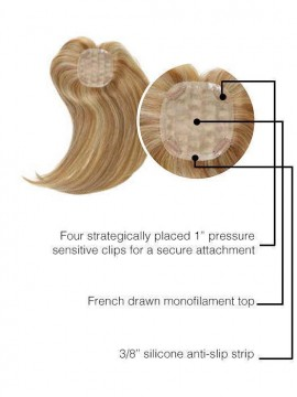 Indulgence Topper Remy Human Hair French Mono Top by Raquel Welch