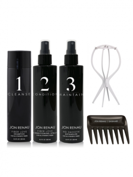 Jon Renau 5 Piece Hair Care Kit w/Plastic Stand