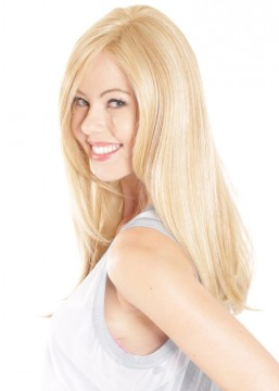Lace Front Mono Top Straight 18 Hair Piece by Belle Tress