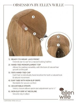 Obsession Wig Lace Front Hand Tied Remy Human Hair by Ellen Wille