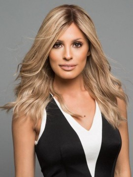 PLF007HM Wig Human Hair Lace Front Hand Tied Mono Top by Louis Ferre