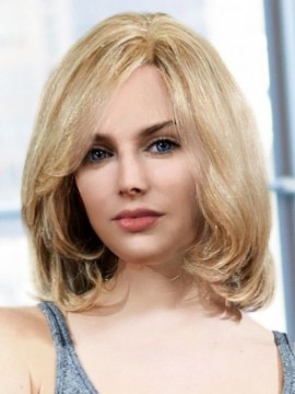 PLF008HM Wig Human Hair Lace Front Hand Tied Mono Top by Louis Ferre
