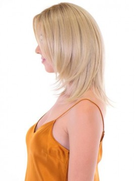 Premium Hand Tied Top Piece Straight 14 by Belle Tress