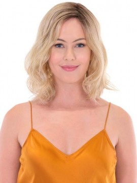 Premium Hand Tied Top Piece Wavy 14 by Belle Tress