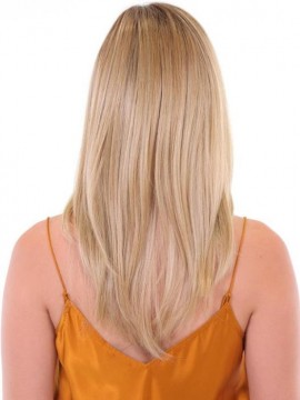 Premium Hand Tied Top Piece Straight 18 by Belle Tress