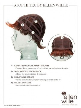 Stop High Tec Wig Mono Crown by Ellen Wille