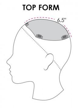 Top Form 8 Elite Remy Human Hair Piece Mono Top by Jon Renau
