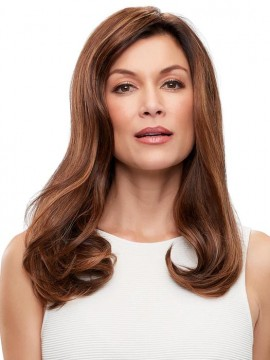 Top Form French 18 Elite Remy Human Hair Piece Mono Top by Jon Renau