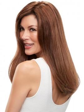 Top Form French 18 Remy Human Hair Piece Mono Top by Jon Renau
