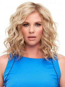Top Full 12 Elite Remy Human Hair Piece Mono Top by Jon Renau