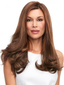 Top Full 18 Elite Remy Human Hair Piece Mono Top by Jon Renau