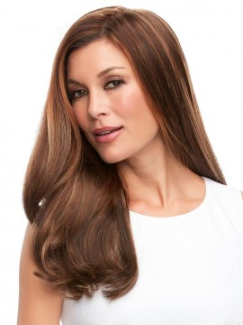Top Full 18 Elite Remy Human Hair Piece Mono Top by Jon Renau