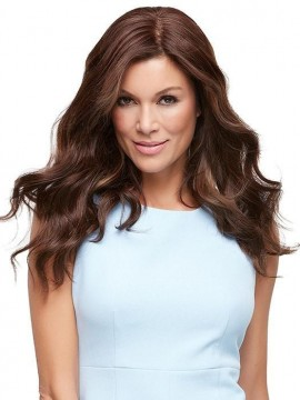 Top Style 18 Remy Human Hair Piece Double Mono Top by Jon Renau