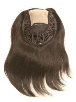 Top Style 12 Remy Human Hair Piece Double Mono Top by Jon Renau
