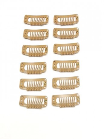 Set of 12 Wig Clips Medium